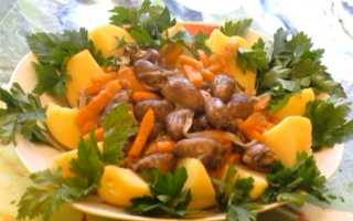 Тушеные куриные сердечки – пошаговый рецепт с фото. Как приготовить
