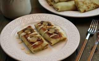 Блины с грибной пастой – пошаговый рецепт с фото. Как приготовить