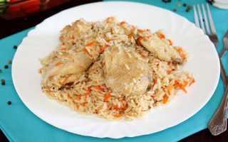 Куриные бедра с капустой и рисом в мультиварке – пошаговый рецепт с фото – для мультиварки