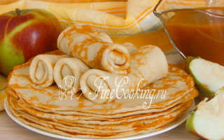 Блинчики с яблоками – пошаговый рецепт с фото. Как приготовить