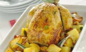 Запеченная курица с картофелем – пошаговый рецепт с фото – для духовки