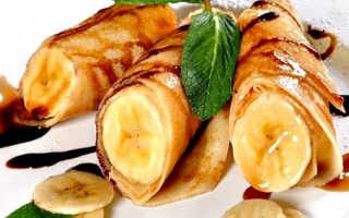 Банановые блины с ореховым сиропом – пошаговый рецепт с фото. Как приготовить