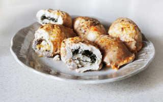 Куриный рулетик со шпинатом – пошаговый рецепт с фото. Как приготовить