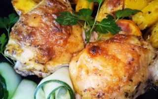 Куриные бедра запеченные в панировке – пошаговый рецепт с фото – для духовки