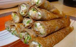 Домашние блинчики с начинкой – пошаговый рецепт с фото. Как приготовить
