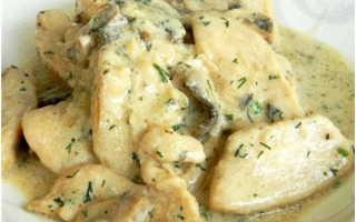 Куриное филе в сливочном соусе в мультиварке – пошаговый рецепт с фото – для мультиварки