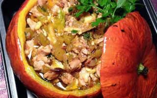 Курица запеченная с тыквой – пошаговый рецепт с фото – для духовки