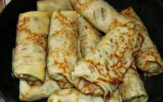 Блинчики с гречкой и мясом – пошаговый рецепт с фото. Как приготовить