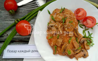 Курица с грибами в винном соусе – пошаговый рецепт с фото. Как приготовить