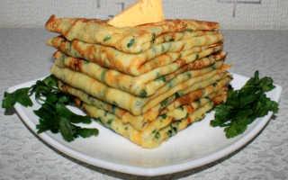 Сырные блинчики с петрушкой – пошаговый рецепт с фото. Как приготовить