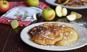 Оладьи на кефире с яблочным джемом с корицей – пошаговый рецепт с фото – для блендера