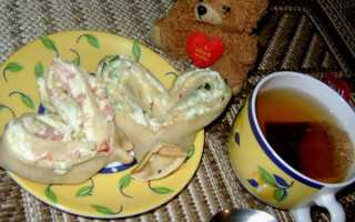 Блины фаршированные крабовыми палочками и яйцом – пошаговый рецепт с фото. Как приготовить