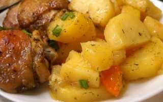 Курица с картофелем запеченые в рукаве – пошаговый рецепт с фото – для духовки