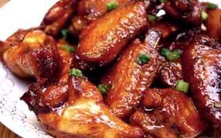 Куриные крылышки в медово-имбирном соусе – пошаговый рецепт с фото. Как приготовить