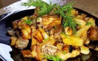 Картофель с грибами. Картошка с грибами и куриной печенкой – пошаговый рецепт с фото. Как приготовить