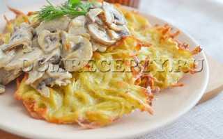 Драники с грибным соусом – пошаговый рецепт с фото. Как приготовить
