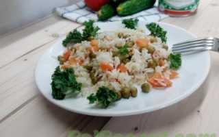 Дикий и пропаренный рис с зеленым горошком и сайрой – пошаговый рецепт с фото. Как приготовить