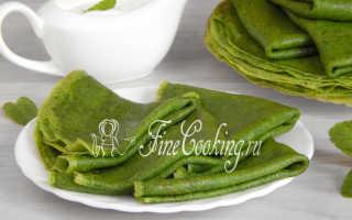 Блинчики со шпинатом – пошаговый рецепт с фото. Как приготовить