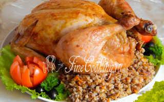 Фаршированная курица гречей и черносливом. – пошаговый рецепт с фото. Как приготовить