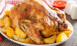 Запеченная курица с картофелем. – пошаговый рецепт с фото – для духовки