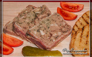 Террин из свинины с куриной печенью и сухофруктами – пошаговый рецепт с фото. Как приготовить