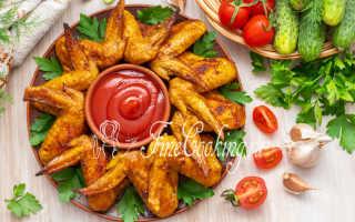Запеченные крылышки – пошаговый рецепт с фото – для духовки