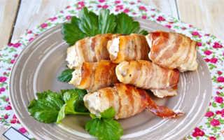 Куриное филе с сыром в беконе – пошаговый рецепт с фото. Как приготовить