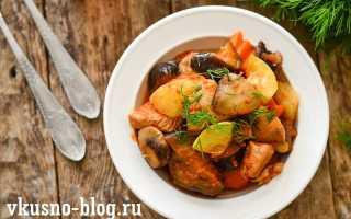 Курица тушеная с овощами и грибами – пошаговый рецепт с фото. Как приготовить