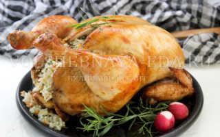 Курица запеченная с рисом. – пошаговый рецепт с фото – для духовки