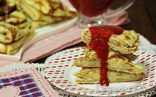 Банановые блинчики с клубничным соусом – пошаговый рецепт с фото. Как приготовить