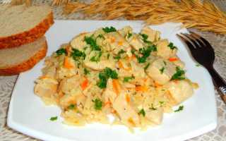 Куриное филе с жаренным рисом и овощами – пошаговый рецепт с фото. Как приготовить