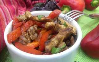 Курица жареная со сладким перцем – пошаговый рецепт с фото. Как приготовить