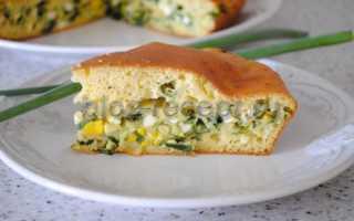 Быстрый (заливной) пирог с зелёным луком и яйцом – пошаговый рецепт с фото. Как приготовить