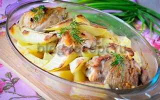 Курица тушеная с картошкой в духовке – пошаговый рецепт с фото – для духовки
