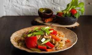 Фунчоза с тушеной капустой – пошаговый рецепт с фото. Как приготовить