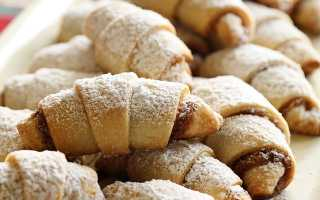 Рогалики с орехами и абрикосовым джемом – пошаговый рецепт с фото. Как приготовить
