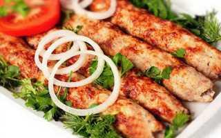 Люля-кебаб куриный с ароматом кориандра – пошаговый рецепт с фото – для духовки