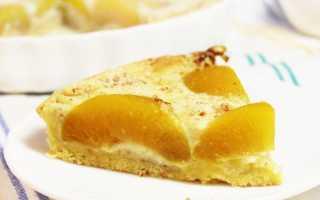 Миндальный пирог с персиками – пошаговый рецепт с фото. Как приготовить