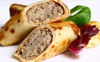 Блины с фаршем из свинины – пошаговый рецепт с фото. Как приготовить