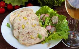 Галантин из говядины и курицы – пошаговый рецепт с фото. Как приготовить