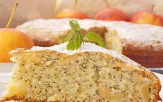 Пирог с яблоками, маком и грецкими орехами – пошаговый рецепт с фото. Как приготовить