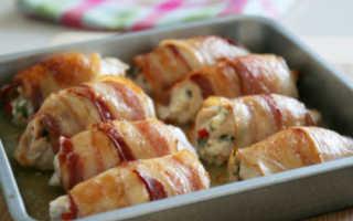 Куриные грудки в беконе со сливочным соусом – пошаговый рецепт с фото. Как приготовить
