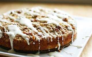 Яблочный пирог со сливочной глазурью – пошаговый рецепт с фото. Как приготовить