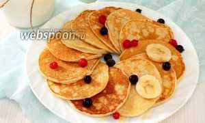 Банановые панкейки – пошаговый рецепт с фото. Как приготовить
