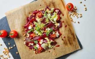 Карпаччо из печёной свёклы с творожным кремом. – пошаговый рецепт с фото. Как приготовить
