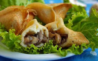 Блины с сыром и грибами – пошаговый рецепт с фото. Как приготовить