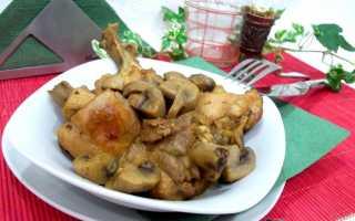 Тушеная курица с грибами – пошаговый рецепт с фото. Как приготовить