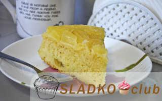 Ананасовый пирог-перевертыш – пошаговый рецепт с фото. Как приготовить