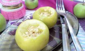 Яблоки, запеченные с овсяными хлопьями и орехами – пошаговый рецепт с фото – для духовки