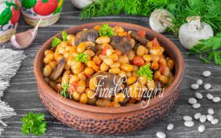 Закусочные блины с фасолью и шампиньонами – пошаговый рецепт с фото. Как приготовить